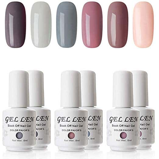 Gellen 6 Colors Soak Off Gel Polish Gift Box Set