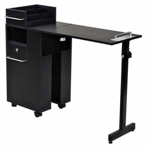 Icarus' Black Manicure Nail Table Station