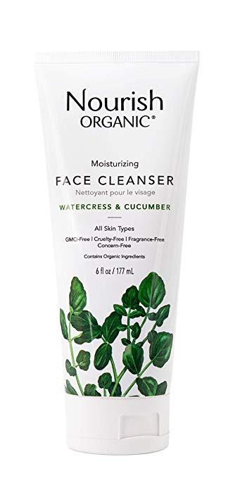 Nourish Organic Moisturizing Face Cleanser, Watercress & Cucumber
