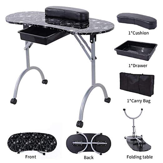 SUNCOO Manicure Nail Table Station