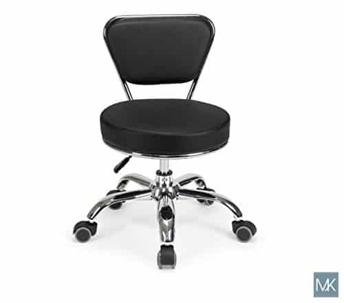 Salon Nail Pedicure Stool DAYTON BLACK by MAYAKOBA