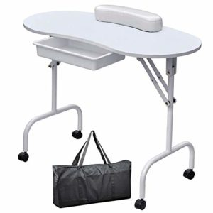 Yaheetech's Portable and Foldable Manicure Table
