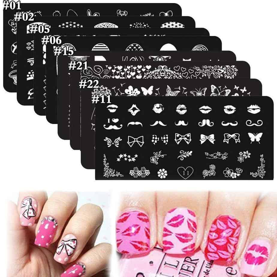 DAODER 8Pcs Nail Stamping Kit