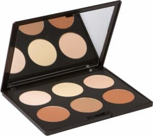 (e) Contour Kit and highlighting powder palette by Elizabeth Mott