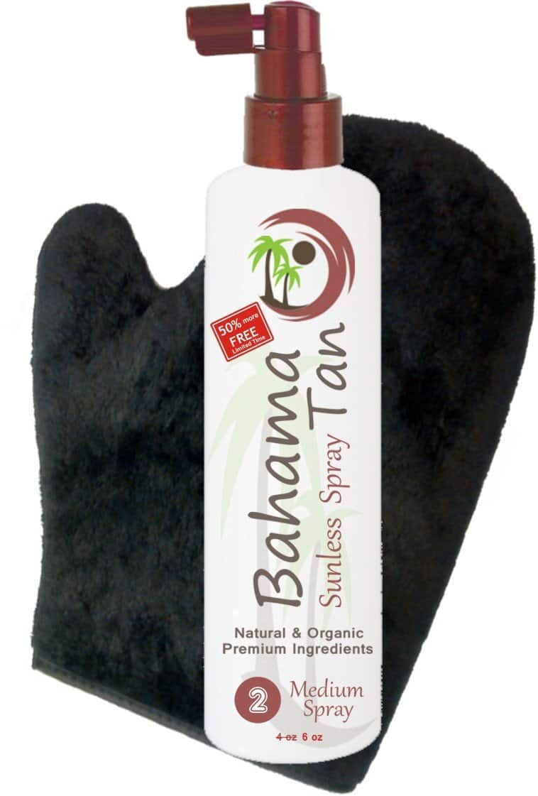 Organic Self Tanning Spray & Tanning Mitt by Bahama tan