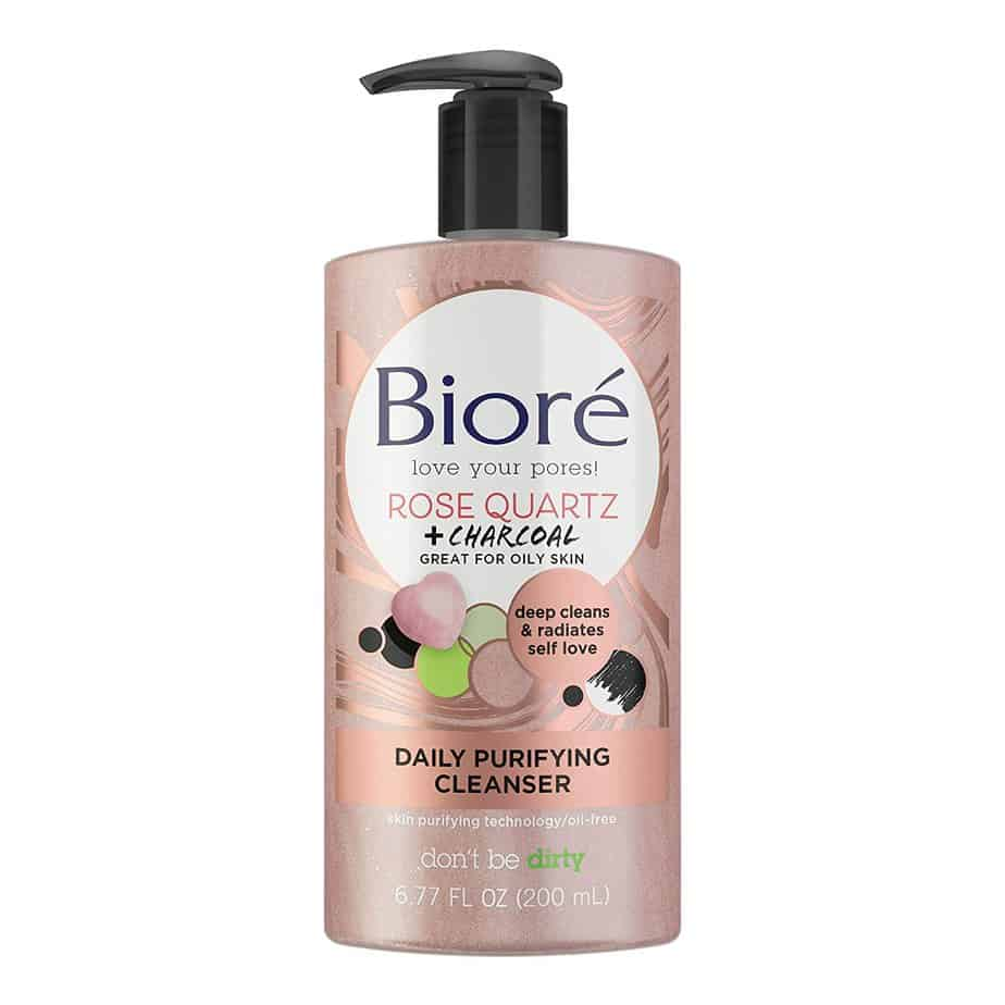 Biore Rose Quartz Charcoal Daily African American Face Cleanser