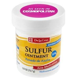 De La Cruz 10% Sulphur Ointment Acne Medication