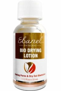 Ebanel bio drying lotion for cystic acne spot treatment