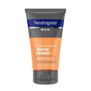 Neutrogena men skin-clearing daily acne face wash