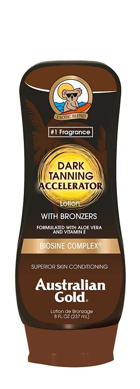 Australian Gold Dark Tanning Accelerator Lotion with Bronzer
