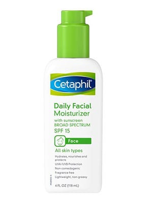 Cetaphil Daily Facial Moisturizer with Sunscreen - Best facial cleanser and moisturizer for black skin