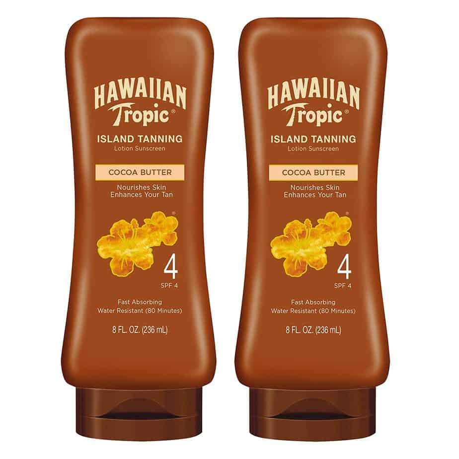 Hawaiian Tropic SPF 4 Dark Tanning Sunscreen Lotion