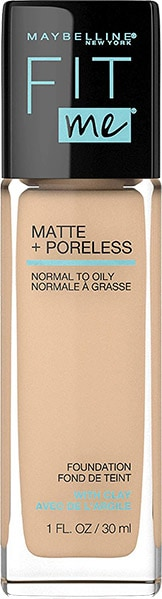 Maybelline fit me matte + poreless liquid foundation - Best Silicone Based Foundation