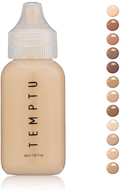 Temptu silicone-based foundation - silicone based foundation for dry skin