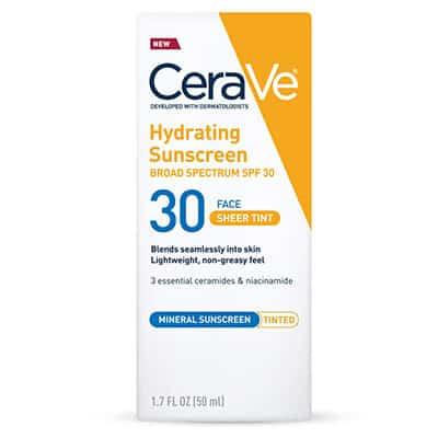 Cerave tinted Face Sunscreen Moisturizer