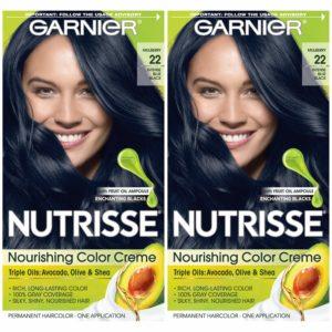 Garnier Hair Color Nutrisse Nourishing Cream, Intense Blue Black-best blue black hair dye
