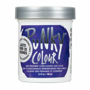 Punky purple semi-permanent hair color
