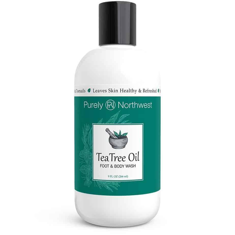 Purely Northwest Antifungal Tea Tree Oil Body Wash - Best antibacterial body wash for body odor