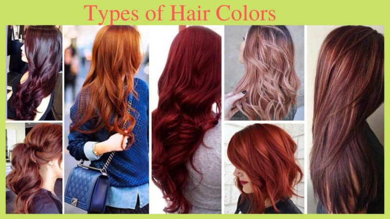 8 Different Types of Hair Colors