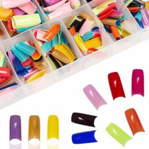 AORAEM 500 Pcs French False Acrylic Gel Nail Art Tips
