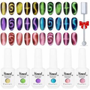HOMOST 5D Magnetic Gel Nail Polish Set- magnetic gel polish