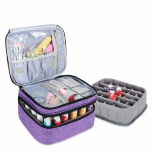 Luxja Double Layer Nail Polish Carrying Case