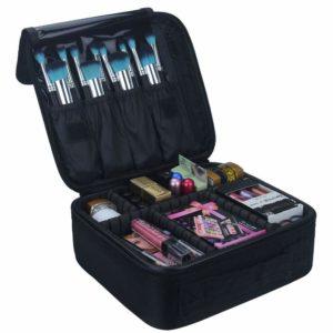 Relavel Portable Travel Makeup Train Case