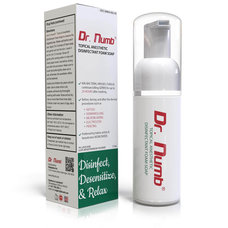 Dr. Numb Skin Numbing Foaming Soap