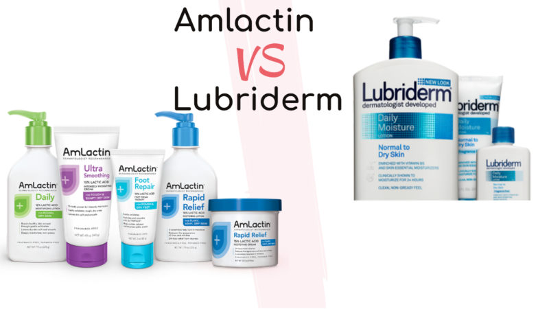 Amlactin Vs Lubriderm – Which Moisture to Choose For A Smooth And Clear Skin?