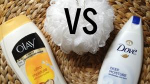 Olay vs dove body wash