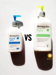 Amlactin Daily vs Rapid Relief Lotions Comparison