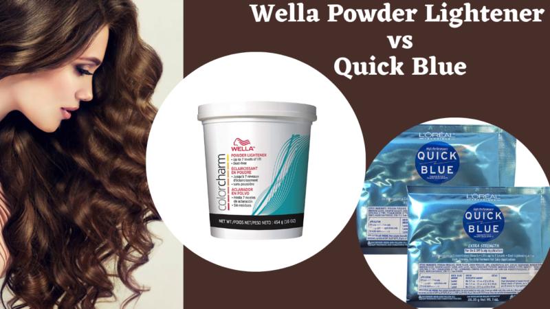 Wella Powder Lightener vs Quick Blue
